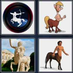 4 pics 1 word 7 letters men with horse legs