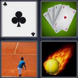 4 pics 1 word 3 letters poker card