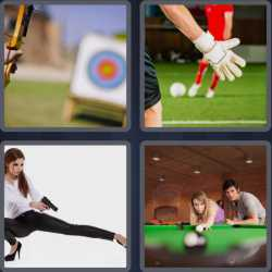 4 pics 1 word 3 letters football billiards