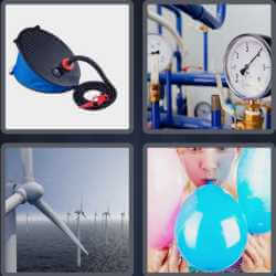 4 pics 1 word 3 letters blue balloon