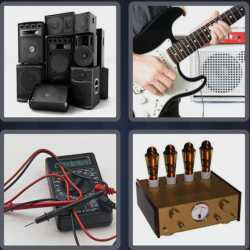 4 pics 1 word loudspeakers guitar