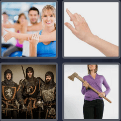 4 pics 1 word woman with an axe