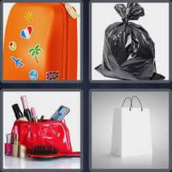 4 pics 1 word 3 letters toilet bag