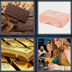 4 pics 1 word 3 letters chocolate