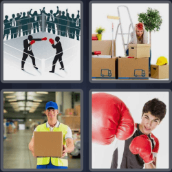4 pics 1 word 3 letters boxing gloves