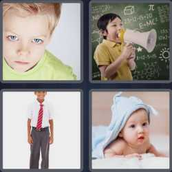 4 pics 1 word child with megaphone
