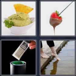 4 pics 1 word nachos with guacamole