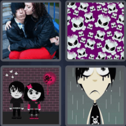 4 pics 1 word skulls couple all answers updated 4pics1wordfo 4 pics 1 word skulls couple couple embracing skulls cartoon pictures expocarfo