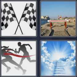 4 pics 1 word racing flags