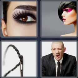 4 pics 1 word eye makeup