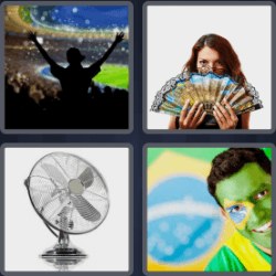 4 pics 1 word brazilian flag