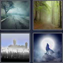 4 pics 1 word wolf howling at moon