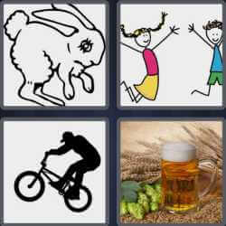 4 pics 1 word rabbit beer