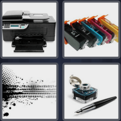 4 pics 1 word printer
