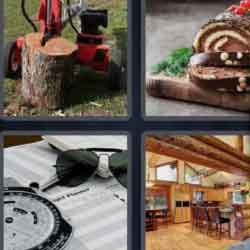 4 pics 1 word 3 letters wood