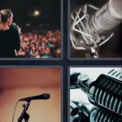 4 pics 1 word speaker microphone