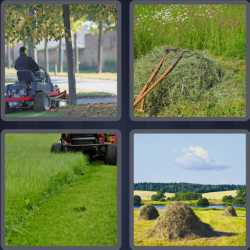 4 pics one word man cutting grass