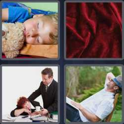 4 pics 1 word child sleeping with teddy bear