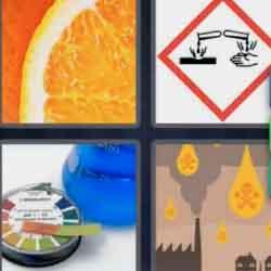 4 Pics 1 Word 4 Letters Acid
