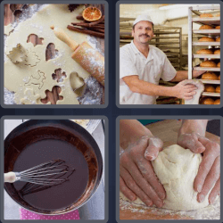 4 Pics 1 Word 4 Letters Bake