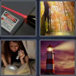 4 Pics 1 Word 4 Letters Beam