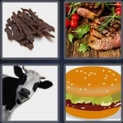 4 Pics 1 Word 4 Letters Beef