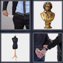 4 Pics 1 Word 4 Letters Bust