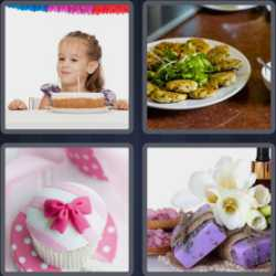 4 Pics 1 Word 4 Letters Cake