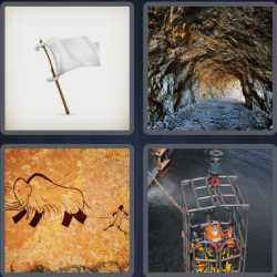 4 Pics 1 Word 4 Letters Cave