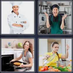 4 Pics 1 Word 4 Letters Cook