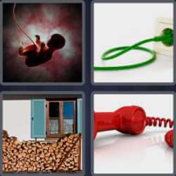 4 Pics 1 Word 4 Letters Cord