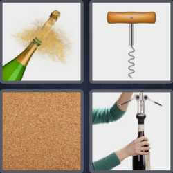 4 Pics 1 Word 4 Letters Cork