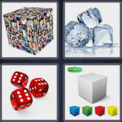 4 Pics 1 Word 4 Letters Cube