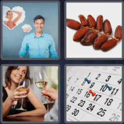 4 Pics 1 Word 4 Letters Date