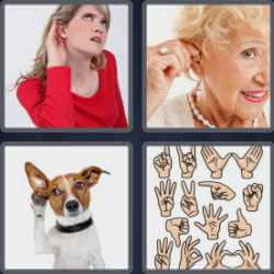 4 Pics 1 Word 4 Letters Deaf