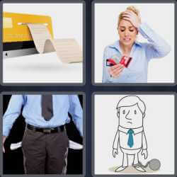 4 Pics 1 Word 4 Letters Debt