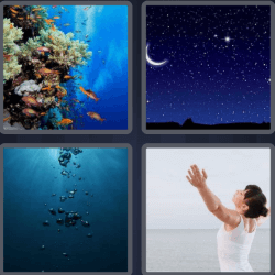 4 Pics 1 Word 4 Letters Deep