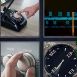 4 pics 1 word black telephone radio