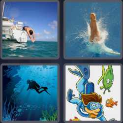 4-pics-1-word-4-letters-dive