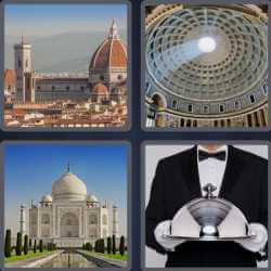 4 Pics 1 Word 4 Letters Dome