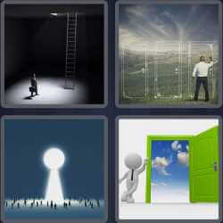 4 Pics 1 Word 4 Letters Exit
