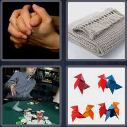4 Pics 1 Word 4 Letters Fold