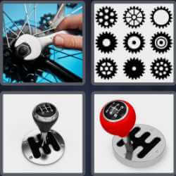 4 Pics 1 Word 4 Letters Gear