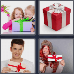 4 Pics 1 Word 4 Letters Gift