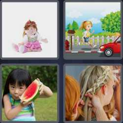 4 Pics 1 Word 4 Letters Girl