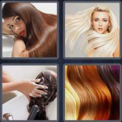 4 Pics 1 Word 4 Letters Hair
