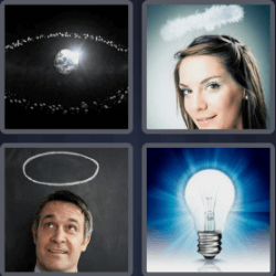 4 Pics 1 Word 4 Letters Halo