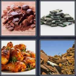 4 Pics 1 Word 4 Letters Heap