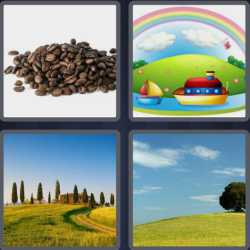 4 Pics 1 Word 4 Letters Hill
