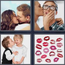4 Pics 1 Word 4 Letters Kiss